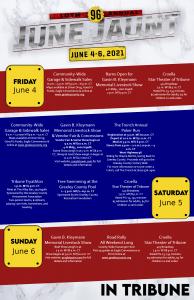 June Jaunt Schedule for Tribune